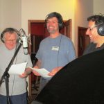 Ted Howe w group in studio singing