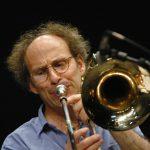 Benny Sluchin (trombone), rŽpŽtition de l'Ensemble Intercontemporain, Centre Pompidou, Paris, 15.06.2006